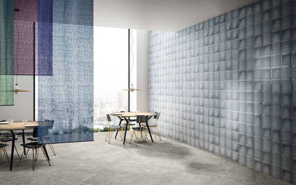 DIESEL LIVING WITH IRIS CERAMICA GLASS BLOCKS