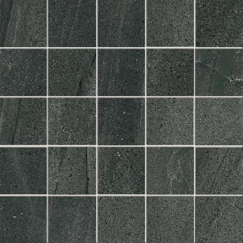 Pietra di basalto nero floor and wall tiles iris ceramica for Carrelage 120x60